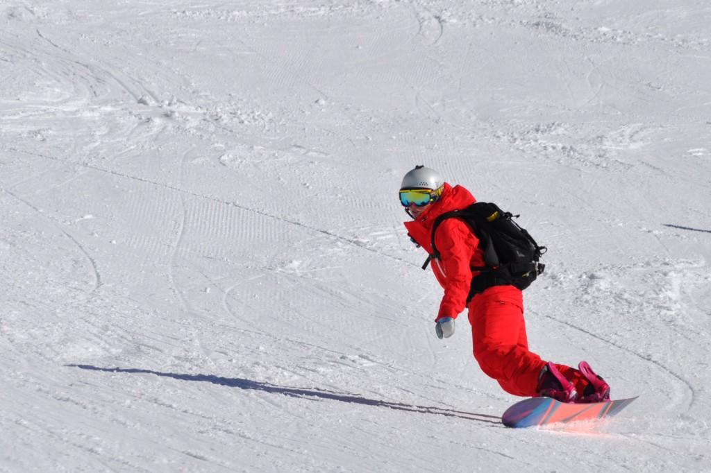 Staatlicher snowboardlehrer